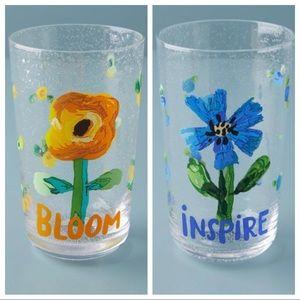 Anthropologie Floral Bloom & Inspire Juice Glasses